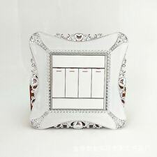 Square Switch Cover Stickers Wall Light Socket Paster Frame Decals Home Decor