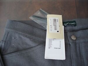 *NEW* WOMEN GOLFINO THE TECHNICAL TWEED TROUSER PANT GRAY SIZE: 10