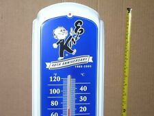 KINZE FARM MACHINERY IMPLEMENT 40 Year Anniversary OLD TIN THERMOMETER Dated2005