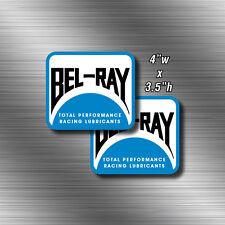 2x Vintage Bel-Ray Motocross sticker Decal CRF RM AHRMA MX YZ CR 500 KX125