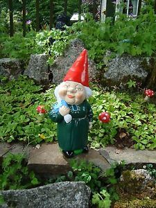 Garden Gnome ~ Lady Jane ~ Handmade by Pixieland (Concrete)