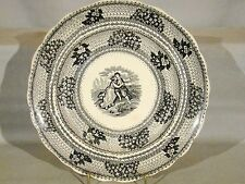 Antique Adams Forget Me Not Black Ttransfer Plate 1819-1864