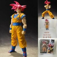S.H.Figuarts Dragon Ball Z Red Super Saiyan God Red Son Goku Figure Toy Gift New