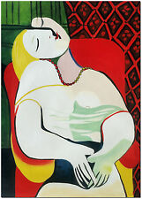 """The Dream - Hand Painted Pablo Picasso Cubist Oil Painting On Canvas 16x24"""""""