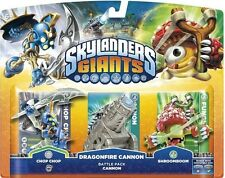 Skylanders Giants - Triple Character Battle Pack - Chop Chop Cannon Shroomboom