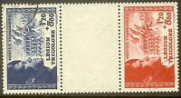 """FRANCE TIMBRE STAMP N°566a """"LEGION TRICOLORE PAIRE INTERVALLE """" OBLITERE TB"""