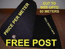 ACOUSTIC DARK GREY STRETCH CARPET CAMPER VAN BASS BOX PRCEL SHELF CAR TRIM T4 T5