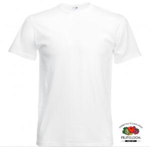 T-shirt BLANC taille XXXL Vêtement Homme Fruit of the Loom coton Original
