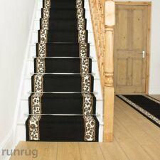 runrug UK Long Runner Carpet Stairs Custom Length Rug Staircase Mat Leopard