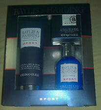 Gift For Him Men Boys Baylis & Harding Sport Trio Body Bath Gift Pack Lovely New