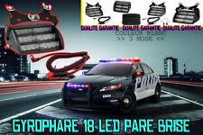 FEUX DE PENETRATION GYROPHARE 18 LED PARE BRISE BLANC • ALLUME CIGARE •