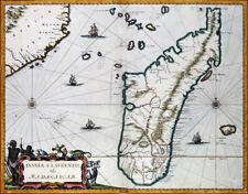Reproduction carte ancienne - Madagascar en 1662