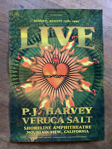 Live PJ Harvey Veruca Salt Rex Ray 1995 Concert Poster Bill Graham Vintage