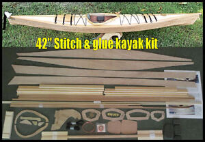 """42"""" Stitch & Glue """"hybrid"""" kayak kit, now with included DVD & paddle!"""