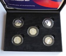 More details for isle of man 2019 cricket world cup silver proof 5 x 50p coin set coa