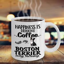 Coffee With Boston Terrier Coffee Mug, Boston Terrier Mug, Boston Terrier Dog