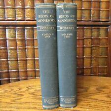 The Birds of Minnesota, Thomas S Roberts, 2 Volumes, University Press, 1932, Har