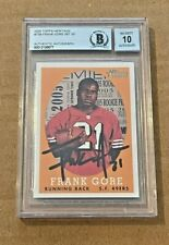 FRANK GORE SIGNED 2005 TOPPS HERITAGE ROOKIE CARD AUTO GRADE 10 BECKETT CERT