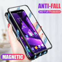 For Xiaomi Redmi Magnetic Adsorption Metal Frame Case Cover Clear Tempered Glass