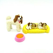 Fisher-Price Loving Family Pets Cocker Spaniel Puppies & Mother Dog Bed & Bowl