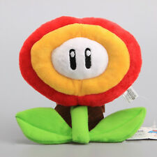 Super Mario Bros Fire Flower Soft Plush Doll Stuffed Toy Kids Gift 7 inch