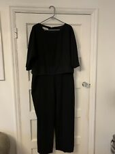 Hobbs Black Evening Jumpsuit With Pockets Occasion Size 16