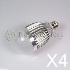 4 x Bombilla 9W LED esferica E27 Blanco Calido 220V 720 lumen -Consumo equiv.80W