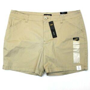 Women's Lee Regular Fit Shorts (4622024) Safari Beige Khaki - 18 M