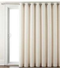 """JCPenney Home Quinn Basketweave Patio Panel- IVORY-100 X 84"""""""
