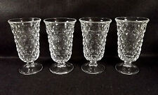 Fostoria Early American Clear Juice Glass Footed Tumbler 4.75 in Tall Lot of 4