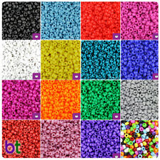 BeadTin Opaque 6.5mm Mini Barrel Pony Beads (1000pcs) - Color choice