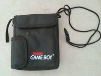 Gameboy Advance Carrying Case With Shoulder Strap Black