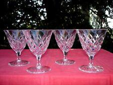 SAINT LOUIS ADOUR 4 WINE GLASSES VERRES A VIN CRISTAL TAILLÉ STL33 WEINGLÄSER