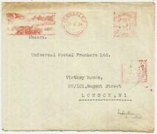 1934 JERUSALEM Palestine 5 mills meter mark/slogan env->GB: latest recorded date