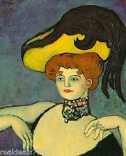 Vintage Picasso Print Large Format - Courtesan with Jewelled Collar 1901-