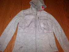 NWT Womens FREE COUNTRY Microtech FLEECE JACKET COAT ZIP UP CLOUD GRAY HOODED M