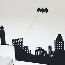 GLOW IN THE DARK BATMAN SKYLINE LOUNGE KIDS BOYS ROOM WALL STICKER VINYL MURAL