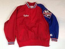 Vintage 90s STARTER Philadelphia Phillies Pull-Over Windbreaker Jacket Mens - L