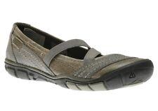 KEEN Contour Arch RIVINGTON Criss Cross Gray Leather Ballet Flats Shoes 9.5 40