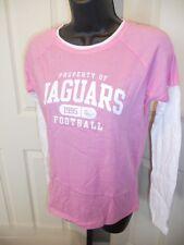 NEW Jacksonville Jaguars Womens Sizes M-L Pink Reebok Tissue Tee Shirt