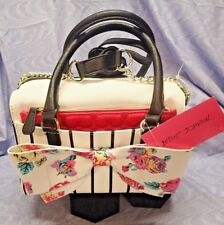 NWT BETSEY JOHNSON BAG Pouch Bow Satchel Multi-Colored Medium Purse BM19430 $118