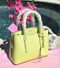 🌸 NWT Kate Spade Margaux Medium Satchel Bag Leather Lemon Sorbet NEW $298