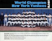 MLB 1978 New York Yankees World Champions Team Picture 8 X 10 Photo Free Ship