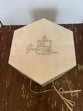 Vintage Younkers Cardboard Hexagon Hat Box