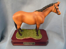 HERCO AMERICA MUSTANG HORSE FIGURINE ON GRASS STAND - PERFECT FOR HORSE LOVER