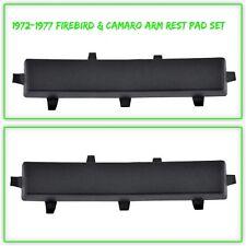 OER 9600968-2 1972-1977 Pontiac Firebird/Chevy Camaro Black Armrest Pad (Pair)