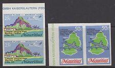MAURITIUS SG415/6s 1970 LUFTHANSA FLIGHT IMPERF PAIRS MNH