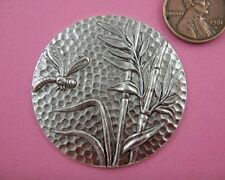 VINTAGE DESIGN ANT SILVER DRAGONFLY & BAMBOO -1 PC(s)