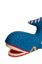 Whale Ballena Alebrije Jiménez Handcrafted Oaxaca Wood Sculpture/Mexican FolkArt