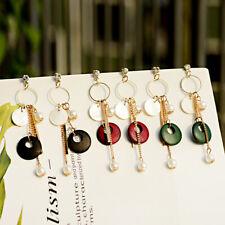 New Style Wood Pearl Chain Tassel Drop Dangle Ear Stud Earrings Fashion Jewelry